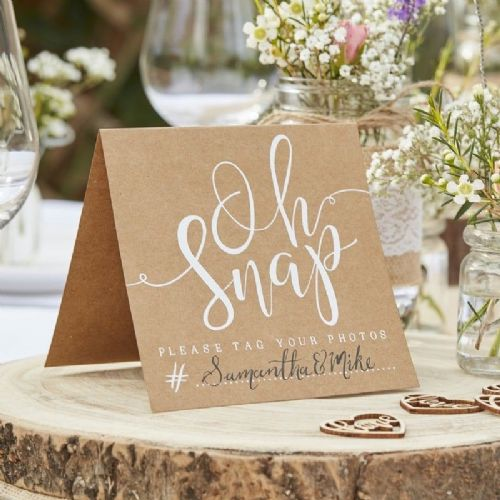 Rustic Country Oh Snap! Instagram Signs (5pk)